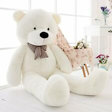 `NEW 47''Giant Big White Teddy Bear Plush Stuffed Soft Toys doll kids Gift 120cm