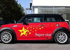Car Star Flashing for Mini Auto Decal Vinyl Graphic Motor Side Stickers ZC180