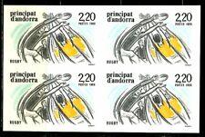 ANDORRE Non Dentelé Yvert 368 RUGBY 1988 Bloc de 4 Cote 110 euros