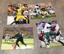 Lot of 9 Oregon Ducks Football signed 8x10 Photos (Stewart, Dixon, Darron++)