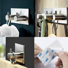 Stainless Steel Towel Self Adhesive Stick Wall Hook Hanger Bathroom Kitchen Door