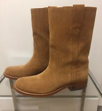 Collectible Chanel Brown Suede Boots NWOT Size 38