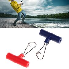 10Pcs Fishing Sinker Slip Clips Plastic Head Swivel With Snap Hook Slide Swivels