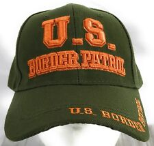 US Border Patrol Law Enforcement 3D Embroidered Adjustable Baseball Cap Olive