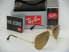 AUTHENTIC RAY-BAN AVIATOR GOLD / POLARIZED BROWN GRADIENT RB 3025 001/M2 58MM