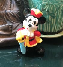 Vintage Disney Japan Mickey Mouse Ceramic Porcelain Figurine Hat & Sword