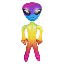 """63"""" GIANT RAINBOW ALIEN INFLATE BLOW UP INFLATABLE - UFO Prop Toy Gag Joke"""