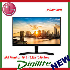 "LG 27MP68VQ 27"" IPS LED LCD Monitor 16:9 1920x1080 5ms VGA DVI HDMI FreeSync"