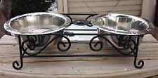 Wrought Iron Dog Feeder (Amish Crafted)