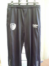 "LEICESTER TIGERS BLACK TRACK PANTS 40"" WAIST/33"" INSEAM BY COTTON TRADERS NEW"