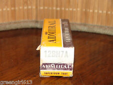 Vintage Admiral GE 12BH7 A Stereo Tube Matched #2210 709 65