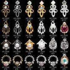 5pcs 3D Nail Art Glitter Rhinestone Crystal Alloy Nail Tips DIY Charm Decoration
