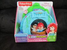 Fisher Price Little People Disney Princess Ariel's Eric Boat Ride Bridge flower