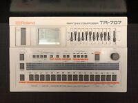 Roland TR-707 Classic Rhythm Composer Groovebox Drum Machine Sequencer Serviced!