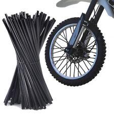 72x Black Wheel Spoke Wraps Rim Covers Skins Fit for Bikes Motorcycle Motocross