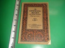 JC289 Vintage 1926 Book The Official Rules of Card Games U.S. Playing Card Co.