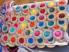 1m multicolour CRYSTAL bead asian braid dance lace bridal wedding APPLIQUE