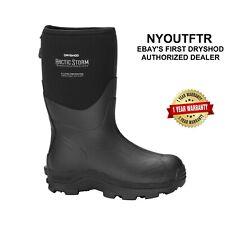 "Dryshod Arctic Storm Men's Mid 12"" Size 7-16 Winter Boots ""Muck Style"" ARS-MM-BK"