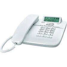 Siemens gigaset da610/da 610 analogique ficelle liée téléphone blanc