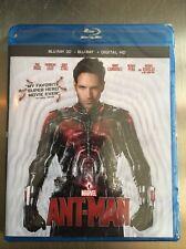 Ant-Man 3D (Blu-ray 3D/Blu-ray/Digital HD, 2015) NEW; Marvel