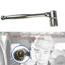 Multi-function Scaffold Ratchet Wrench 180°Adjustable Head Socket Wrench 21mm