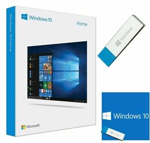 Microsoft Windows 10 Home 64-bit Software USB Key with License Key****SEALED****