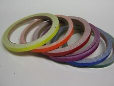 Any 6 Rolls of Gloss Solid Color Vinyl Tape 1/4 Inch x 25 ft, Your Color Choices