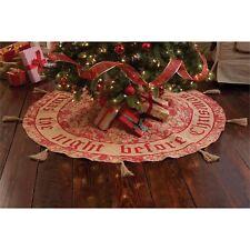 "Mud Pie~58"" Christmas Holly Berry Tree Skirt ~ ""Twas the night before Christmas"""