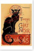 Black Cat La Chat Noir Paris France French Caberet Theophile Steinlen Poster