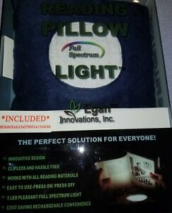 Book Light: Full Spectrum Rechargeable LED Booklight in a convenient pillow