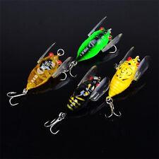 4pcs Bass Plastic Cicada Fishing Lures Crankbaits Hook Floating Tackle
