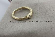 David Yurman 18K 750 Diamond 0.15ct Solitaire Classic Twisted Rope Band Ring - 7