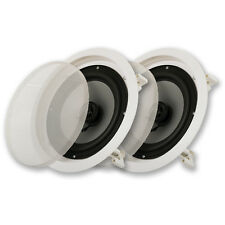 """NEW 8"""" in wall Ceiling Speakers.Home Audio Flush Mount Pair.10.8"""" Frame.8ohm.8in"""