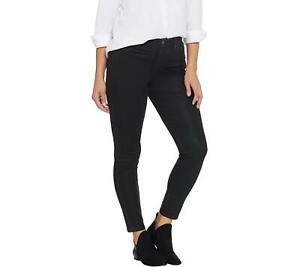 Martha Stewart Regular Coated Denim Ankle Jeans (Francesca Black, 16) A345124