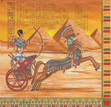 2 Serviettes en papier Egypte Horus Cléopatre Toutankhamon Paper Napkins Egypt
