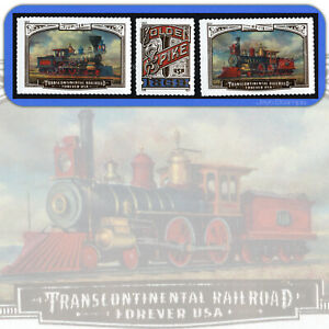 2019  TRANSCONTINENTAL RAILROAD  Set of 3 Individual  USPS Forever® MINT Stamps