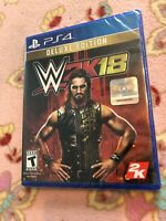 Brand New & Sealed WWE 2K18 Deluxe Edition for PlayStation 4 PS4
