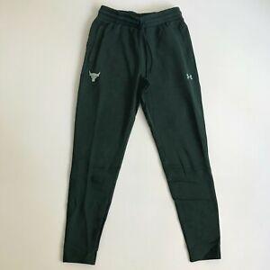 Under Armour Men Medium Project Rock Cotton Fleece Jogger Sweat Pants Green 1294