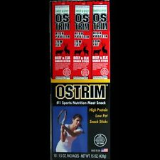 Ostrim Beef and Elk Sweet and Spicy 10 Count Protein Jerky Snack Sticks