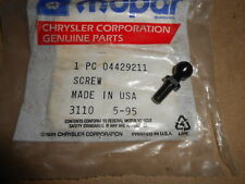 NOS Dodge OEM Throttle Control Screw Ball 1989-92 D350 W350 Ram Charger 4429211