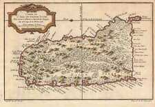 1758 Bellin Map of Saint Lucia (Sainte Lucie), West Indies