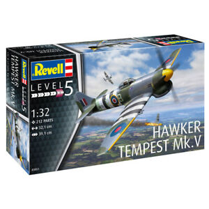 Revell 03851 Hawker Tempest Mk.V Fighter Aircraft Model Kit Scale 1:32 Parts 212