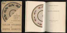 1925 Color Studies for RAFFIA BASKETS Gertrude Porter Ashley Illustrated