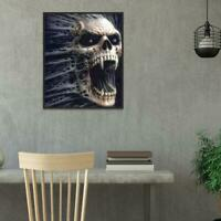 5D DIY Full Drill Diamond Painting Skull Cross Stitch Embroidery Mosaic Kit