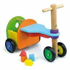 Jeux Jouet Triporteur VILAC Arc en Ciel, véhicule en bois / Enfant Fille Garçon