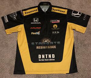 Simona De Silvestro Indy 500 Race Used 2010 HVM Racing Crew  Shirt Large RARE