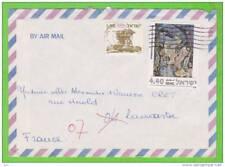 Sur Enveloppe PAR AVION - ISRAEL - 2 timbres