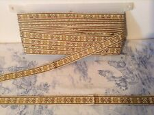 Vintage French Passementerie Braid Ribbon Trim Trimming ~ 12m - NOS
