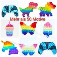 Push it Pop it Bubble Spielzeug Fidget Rainbow Antistress Stressabbau