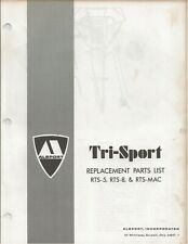 Reproduction Alsport Tri-Sport Parts List Manual RTS-5 RTS-8 RTS-MAC